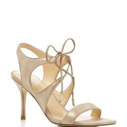 IVANKA TRUMP Garver Metallic Lace Up High Heel Sandals   Bloomingdale's (US)