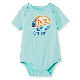 Circo™ Baby Boys' Lap Shoulder Taco Bodysuit - Hot Wire Aqua | Target