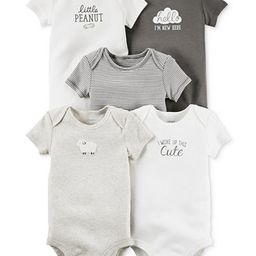 Carter's Baby Girls' or Baby Boys' 5-Pack Short-Sleeve Bodysuits | Macys (US)