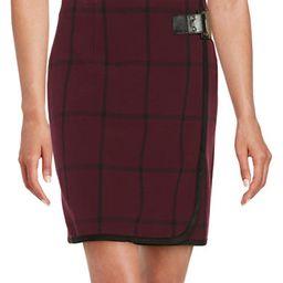 IVANKA TRUMP Windowpane Faux Wrap Skirt | Lord & Taylor