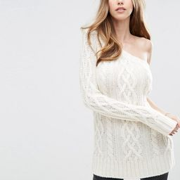 ASOS Cable Jumper with One Shoulder at asos.com   ASOS UK