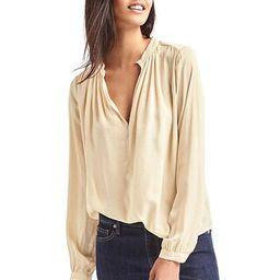 Silky split-neck blouse   Gap US