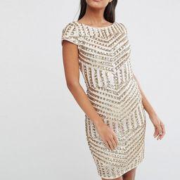 TFNC Cap Sleeve Midi Dress In Patterned Sequin | ASOS UK