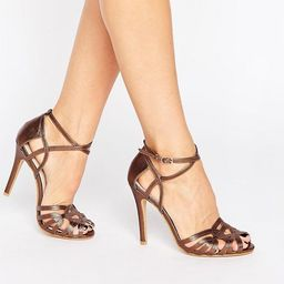 True Decadence Bronze Strap Heeled Sandals | ASOS US