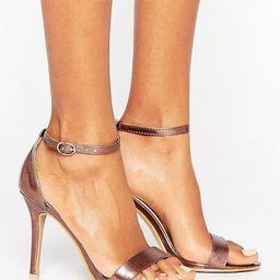 Glamorous Bronze Metallic Two Part Heeled Sandals | ASOS US