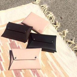 LEATHER ENVELOPE WALLET • Leather envelope clutch • Leather envelope purse • Leather card holder • L   Etsy (US)