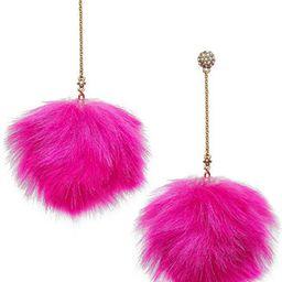 Betsey Johnson xox Trolls Faux-Fur Pom Pom Earrings, Only at Macy's   Macys (US)