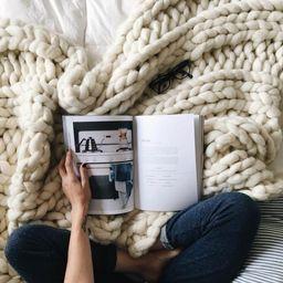 "Chunky Knit Blanket, 32x54"" Pure Merino Throw Blanket, Giant Knit Blanket, Huge Stitch Size   Etsy (US)"
