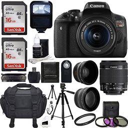 Canon EOS Rebel T6i DSLR CMOS Digital SLR Camera with EF-S 18-55mm f/3.5-5.6 IS STM Lens Bundle | Amazon (US)