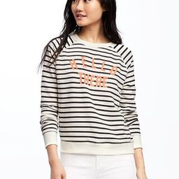 Relaxed French-Terry Sweatshirt for Women | Old Navy US
