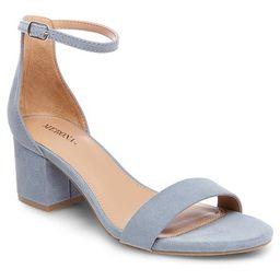 Women's Marcella Low Block Heel Pumps with Ankle Straps - Merona™   Target