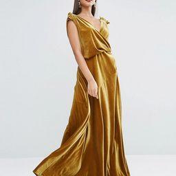 ASOS RED CARPET Velvet Drape Maxi Dress | ASOS UK