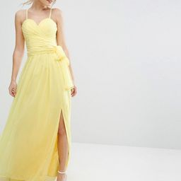 Forever Unique Sweetheart plunge maxi Dress with Wrap Skirt | ASOS UK