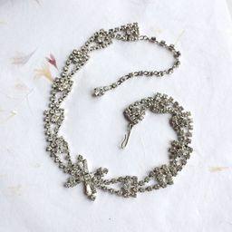 Vintage diamante choker, vintage rhinestone necklace, crystal necklace, paste necklace, prom necklac | Etsy (US)