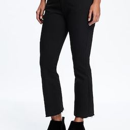 Black Flare Ankle Mid-Rise Jeans for Women | Old Navy US