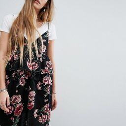 Reclaimed Vintage Cami Dress In Jacquard With Raw Hem   ASOS UK