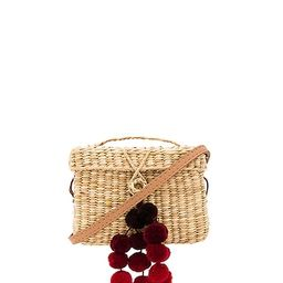 Nannacay Baby Roge Cascade Red Pompom Bag in Off White   Revolve Clothing