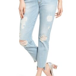 Taylor Tomboy Ripped Boyfriend Jeans with Step Hem | Nordstrom