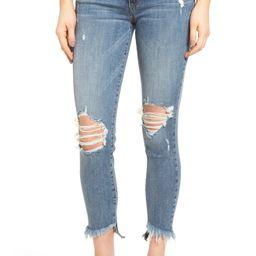 Emma Frayed Hem Skinny Jeans | Nordstrom