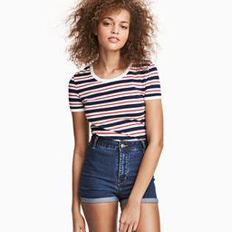 H&M Cotton Jersey T-shirt $12.99 | H&M (US)