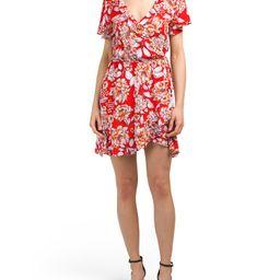 Juniors Ruffle Front Wrap Dress | TJ Maxx