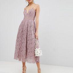 ASOS Lace Cami Midi Prom Dress | ASOS US