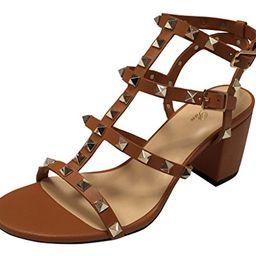 Kaitlyn Pan Studded Block Heel Open Toe Sandal   Amazon (US)