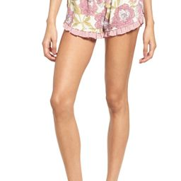 Ruffle Trim Floral Shorts   Nordstrom