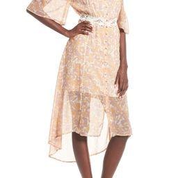 Simone Cold Shoulder Midi Dress | Nordstrom