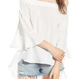 Flare Sleeve Off the Shoulder Blouse | Nordstrom