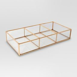 Glass and Metal 3 Compartment Vanity Tray - Threshold™ | Target