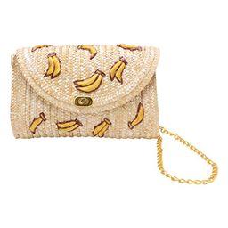 OHTOP Banana Cherry Straw Messenger Shoulder Crossbody Clutch Flap Chain Bag Beach | Amazon (US)