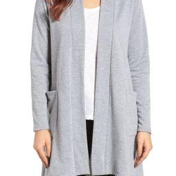 High/Low Fleece Knit Cardigan | Nordstrom
