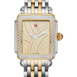 Deco Diamond Diamond Dial Bracelet Watch Head & Bracelet, 29mm x 31mm | Nordstrom