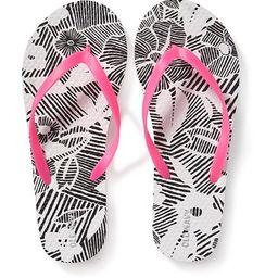 Printed Flip-Flops for Girls | Old Navy US