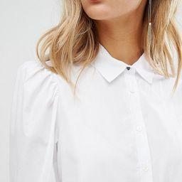 Mango Puff Sleeve Shirt   ASOS US