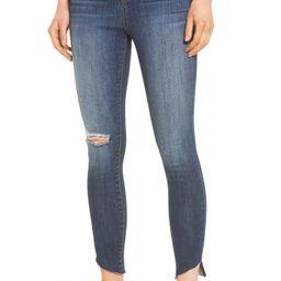 Angled Step Hem High Waist Skinny Jeans | Nordstrom