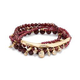 Supak Beaded Bracelet Set in Red Garnet | Kendra Scott