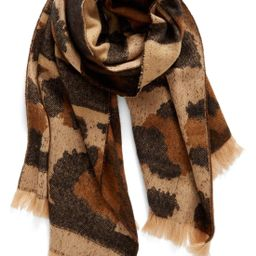 Mixed Leopard Pattern Scarf   Nordstrom
