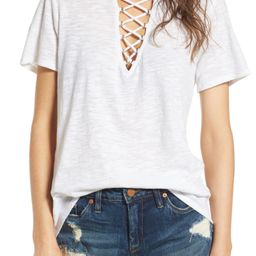 Grommet Lace-Up Tee   Nordstrom