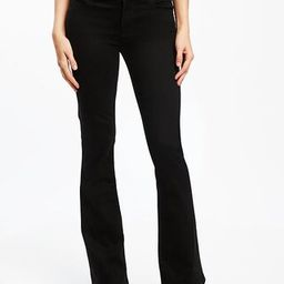 Mid-Rise Black Micro-Flare Jeans for Women | Old Navy US
