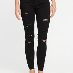 Mid-Rise Distressed Rockstar Jeans for Women | Old Navy US