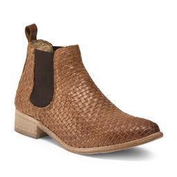 Made In Italy Woven Leather Chelsea Bootie | TJ Maxx