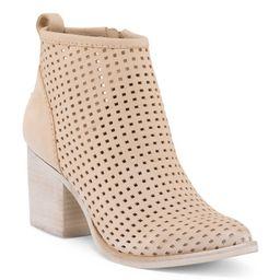 Perforated Nubuck Leather Booties | TJ Maxx