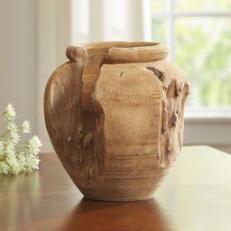 Biscayne Teak Vase   Wayfair North America