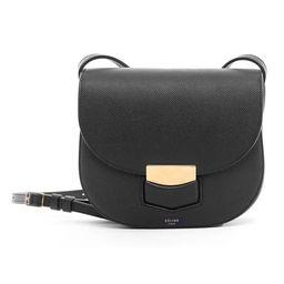 Celine Small Trotteur Black Crossbody Handbag   Overstock
