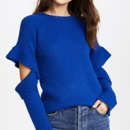 Sweater with Sleeve Ruffle Detail | Shopbop